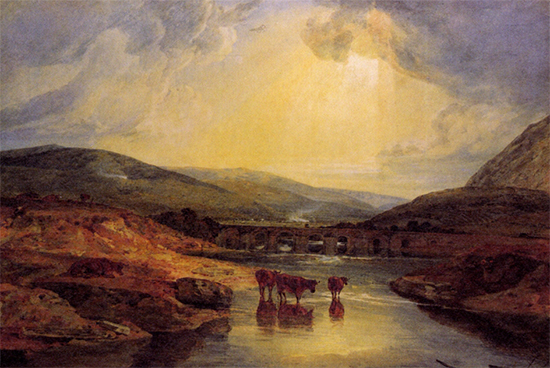 Abergavenny Bridge Monmountshire WC Turner