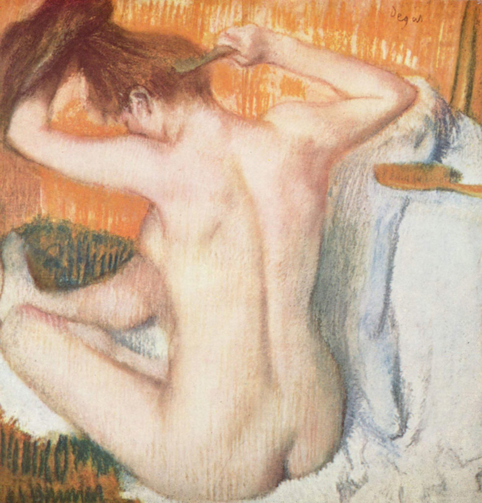 La Toilette by Edgar Degas, pastel
