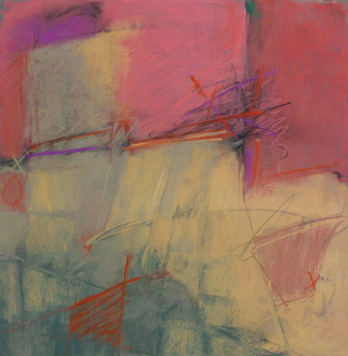 Interregnum (pastel, 11x11) by Arlene Richman | abstract art