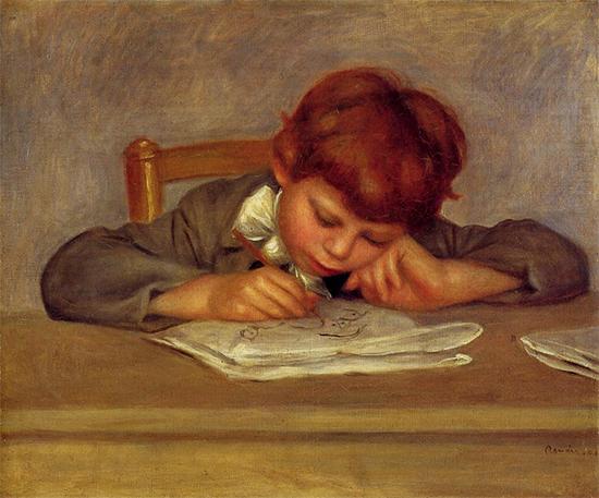 Jean Drawing, ca. 1901, Pierre Auguste Renoir