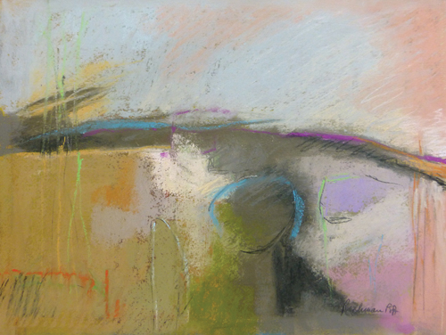Morning Rain (pastel, 11x14) by Arlene Richman | abstract art