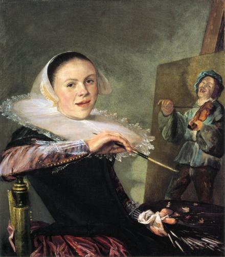Leyster's Self-Portrait at Easel