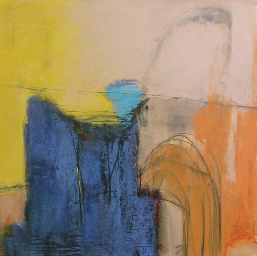 Silent Echo (pastel, 14x14) by Arlene Richman | abstract art