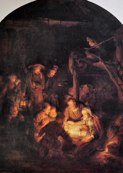 Adoration of the Shepherds by Rembrandt | ArtistsNetwork.com