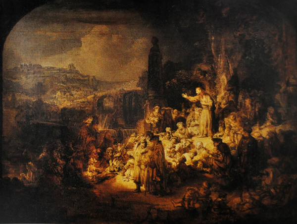 John the Baptist Preaching by Rembrandt | ArtistsNetwork.com
