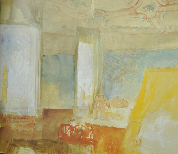 Turner's Bedroom in the Palazzo Giustinian (the Hotel Europa), Venice by JMW Turner | ArtistsNetwork.com