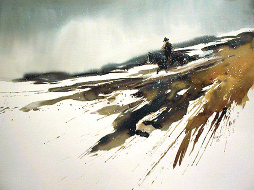 watercolor-landscape-Aint-No-Mountain-High-Enough-18x24-2002 | artistsnetwork.com