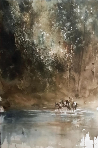 watercolor-landscape-Late-in-the-Day-15x22-2015   artistsnetwork.com