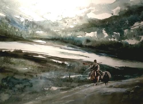 watercolor-landscape-Stranger-in-Paradise-18x24-2015   artistsnetwork.com