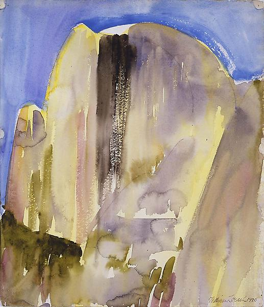 Half Dome, Yosemite 1920, 15 1/4 x 13 1/4, watercolor and pencil on paper. All works by William Zorach. Images courtesy Michael Rosenfeld Gallery.