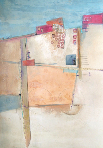Altered State (watercolor and mixed media) by Jill Krasner | abstract watercolor