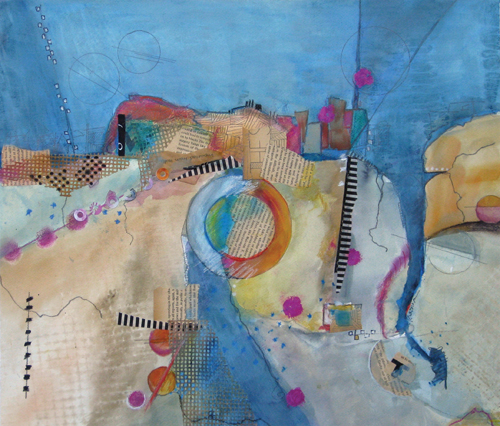 Mood Indigo (watercolor and mixed media) by Jill Krasner | abstract watercolor