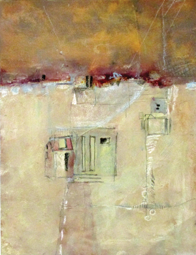 Soft Focus (watercolor and mixed media) by Jill Krasner | abstract watercolor