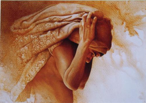 cargador-de-pieles-Jose-Apaza-36x51.5-cm.1999 | artistsnetwork.com