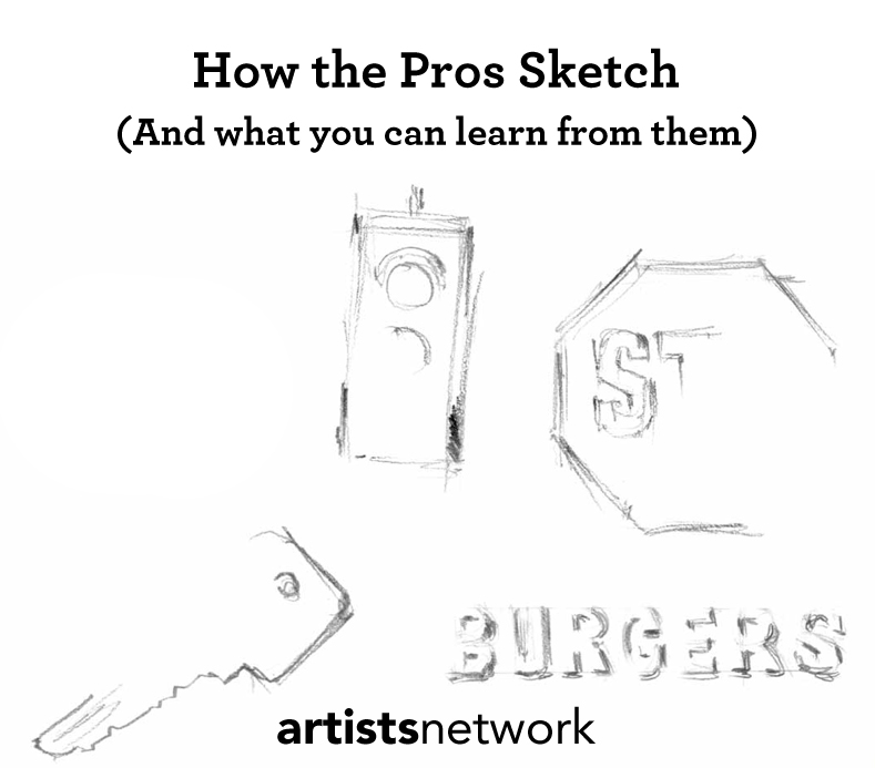 Learn how the pros sketch with this free sketching techniques tutorial!