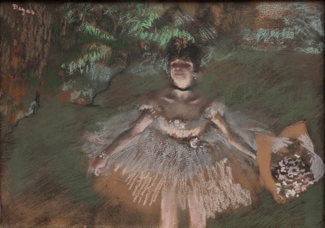Edgar Degas | Dancer Onstage with a Bouquet | Artist's Network
