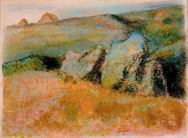 Edgar Degas | Landscape with Rocks | Artist's Network