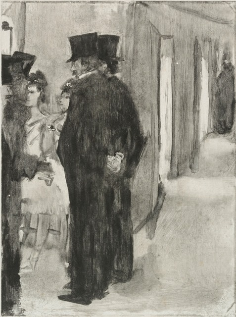 Edgar Degas | Pauline and Virginie Conversing with Admirers | Artist's Network