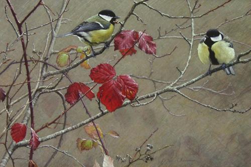 l'Automne au Jardin II (pastel) by Lionel Asselineau | artistsnetwork.com