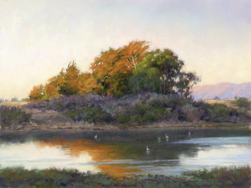 pastel-landscape-Sunkissed-Linda-Mutti-12-x-16 | artistsnetwork.com