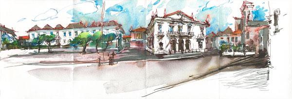 Urban sketching demo | Marc Taro Holmes, ArtistsNetwork.com