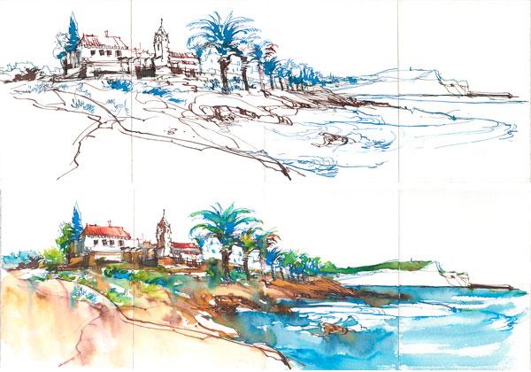 11-Portugal_Ink-Pano02_Luz_Harbor_Walk_01