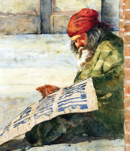 Sign of the Times (watercolor) by Carol McSweeney | artistsnetwork.com