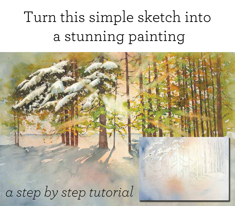 Watercolor techniques free how to watercolor guide for Step by step painting tutorial