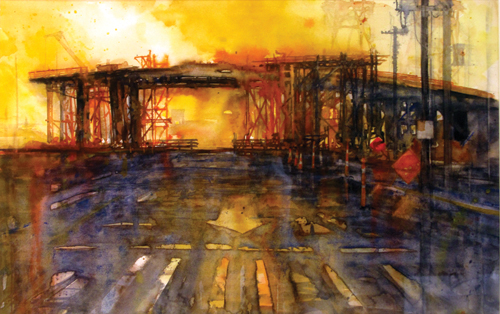 Formwork #4 by Bill hook | watercolor painting