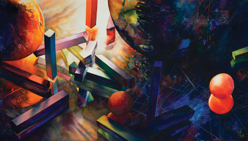 watercolor-still-life-Still Light (watercolor on paper, 20x37) by Brent Funderburk   artistsnetwork.com
