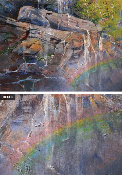 Painting rocks: A Misty Moment at Amicalola Falls by Albert Handell |ArtistsNetwork.com