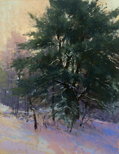 pastel_landscape_Backyard Tree (pastel) by Jacob Aguiar | artistsnetwork.com