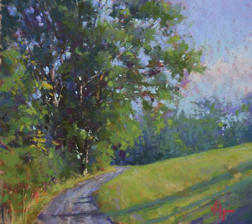 pastel_landscape_Greens_Along_the_Presumpscot_Jacob_Aguiar | artistsnetwork.com