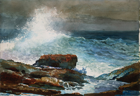 Incoming Tide - Scarboro Maine by Winslow Homer, 1883.