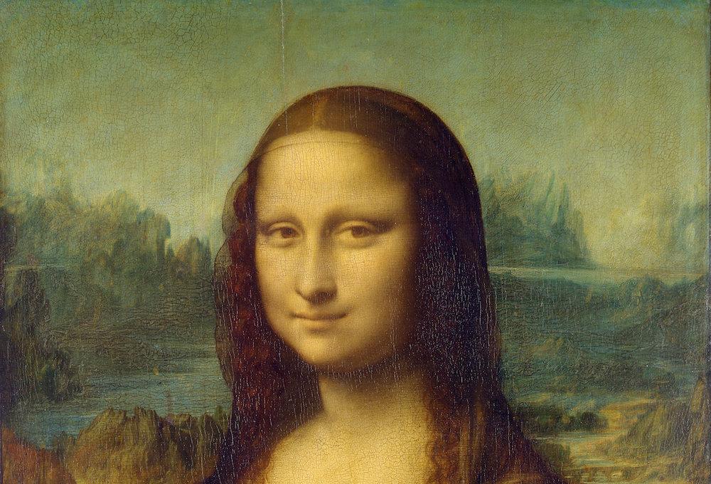 The Mona Lisa, Detail shot