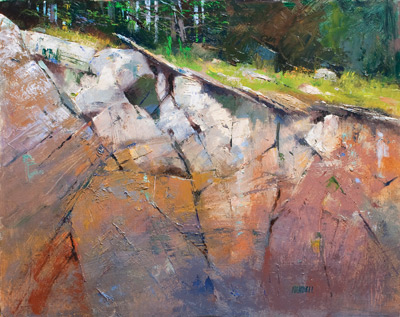 Painting Rocks: Rock Ledge by Albert Handell-small |ArtistsNetwork.com