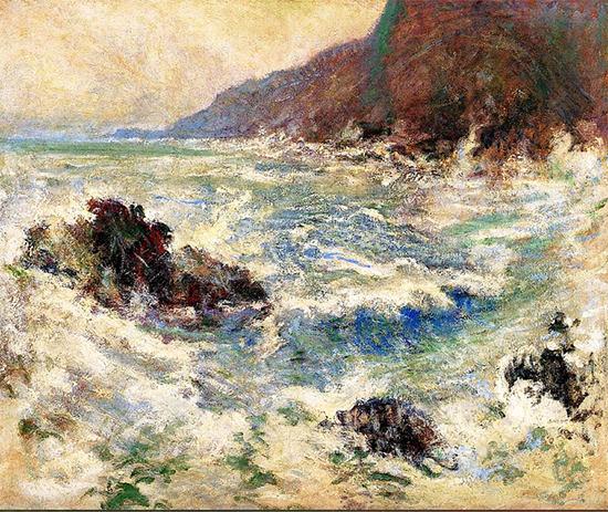 Sea Scene by John Henry Twachtman, oil painting, 1893.