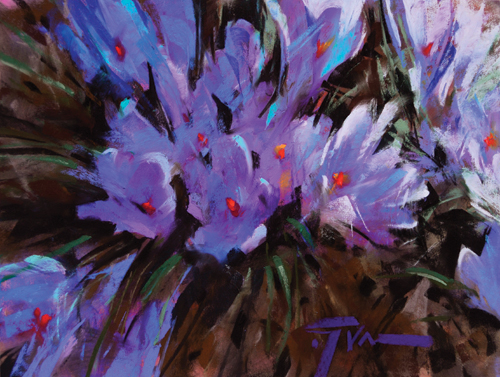 pastel_florals_Morning_Walk_Jen_Evenhus | artistsnetwork.com