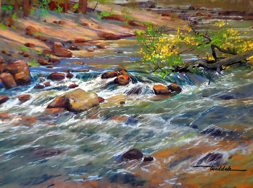 Virgin-River-Flow-Doug-Tweddale-Painting-NAtional-PArks