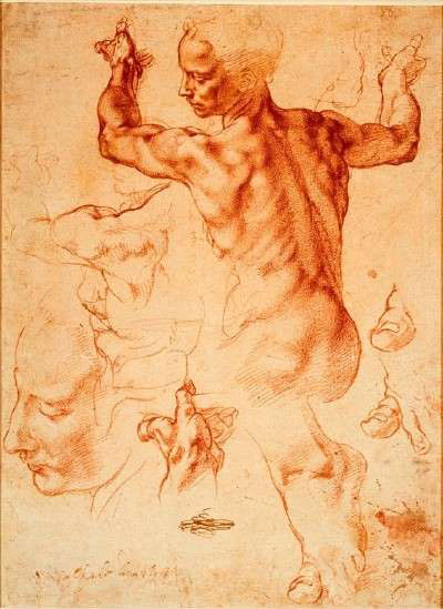 The value of paintings vs drawings art business artists network michelangelo art business advice artistsnetwork preliminary drawing by michelangelo fandeluxe Choice Image