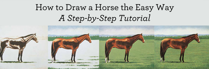 Tips for drawing horses the easy way: a step by step tutorial that's free.