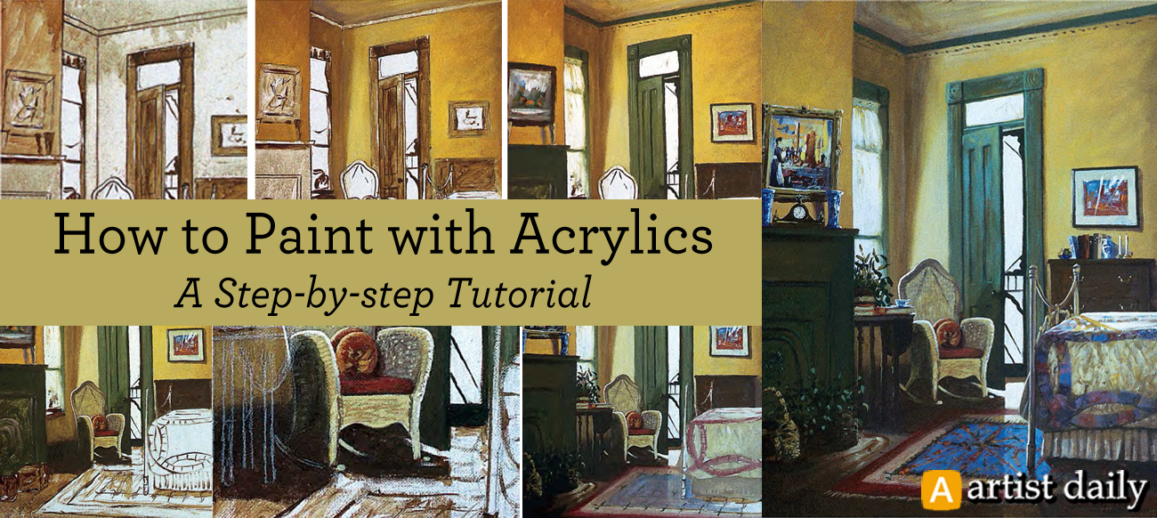 Learn everything you need to know about acrylic painting for beginners in this free guide!
