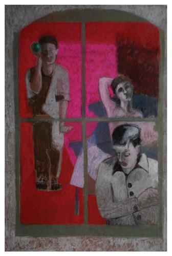 Looking In (pastel, 29x20) by Robin Warnes | pastel art