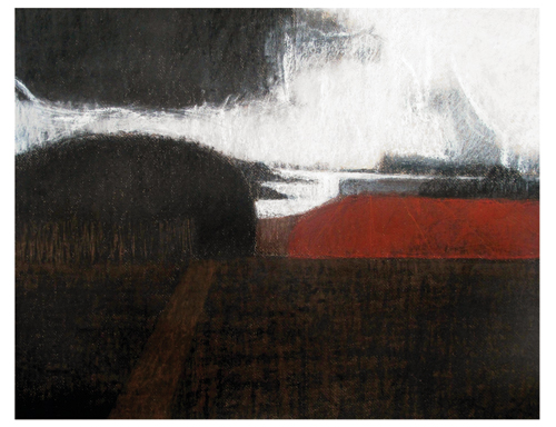 Dusk View of the River Orwell (pastel, 20x23) by Robin Warnes   pastel art