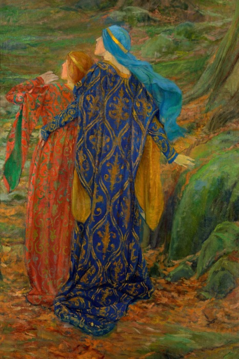 Dans la crainte by Edwin Austin Abbey | Color Mixing | Artist Daily