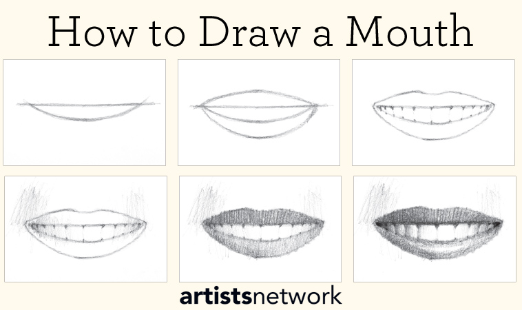 Learn how to draw a mouth and other free tutorials on drawing for beginners