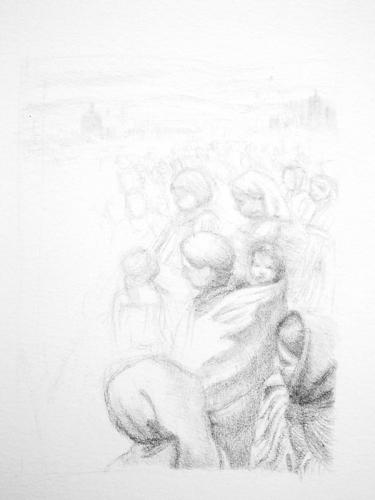 Patricia Guzman sketch | watercolor portraits