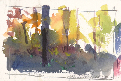Thomas McNickle's thumbnail color study | watercolor landscapes