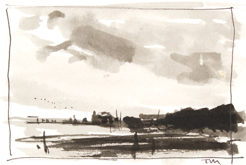 Thomas McNickle's sumi ink study | watercolor landscapes