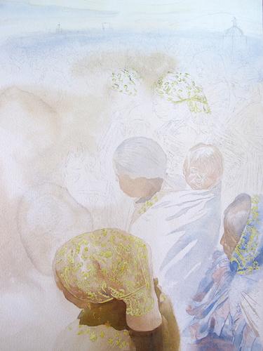 Patricia Guzman step 2 | watercolor portraits